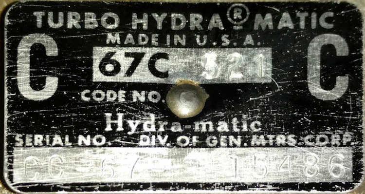 turbo hydra matic codes